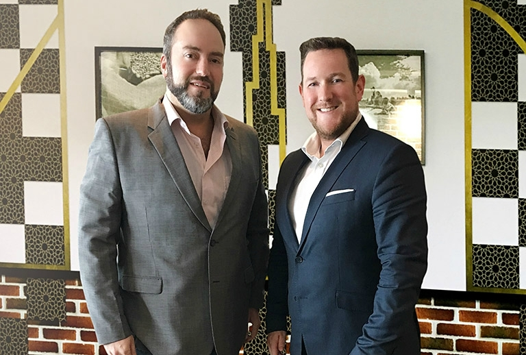 HB Brands chief operating officer Martin Venter (left) and Coffee Planet managing director Robert Jones.