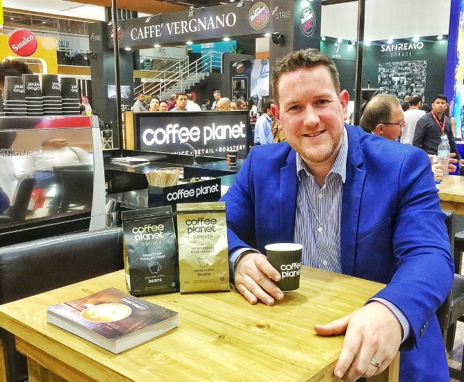 Coffee Planet managing director Robert Jones at Gulfood 2017