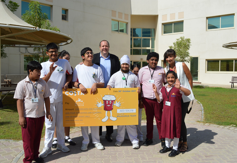 A total of AED 104,178 was donated to Al Noor Training Centre.