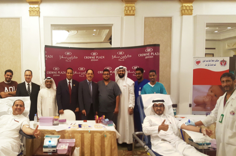 Crowne Plaza Jeddah Hotel organised a blood donation campaign.
