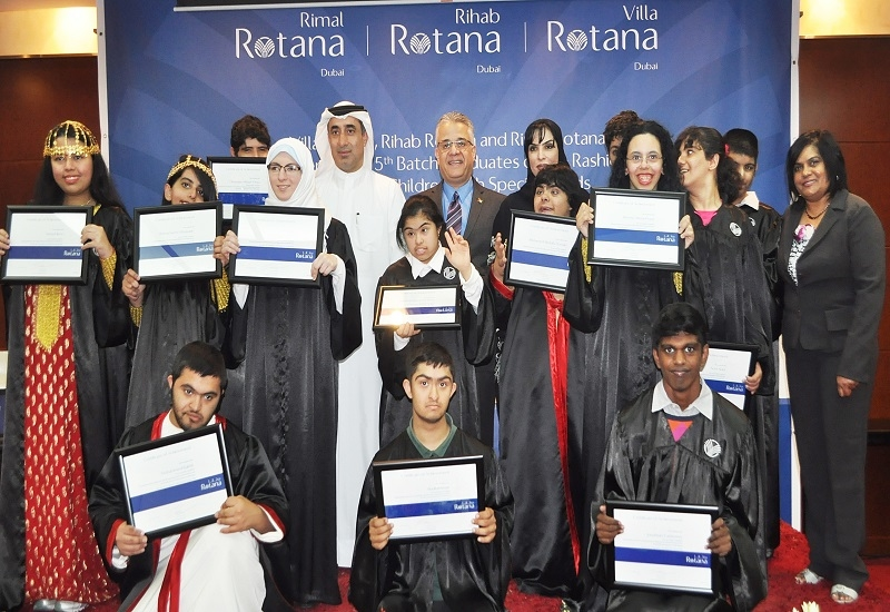 Students from Rashid Pediatric Therapy Centre.