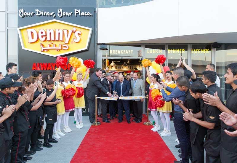 John C. Miller, president and chief executive officer of Denny's Corporation, attended the launch of Denny's on Sheikh Zayed Road in Dubai.