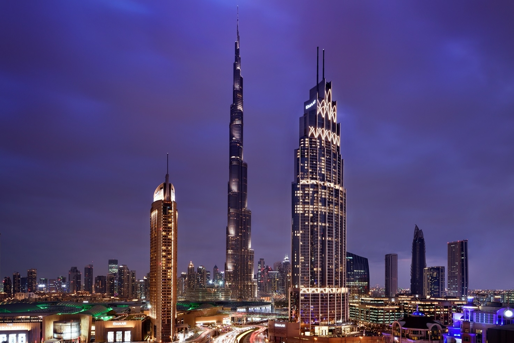 The Address hotels in Downtown Dubai.