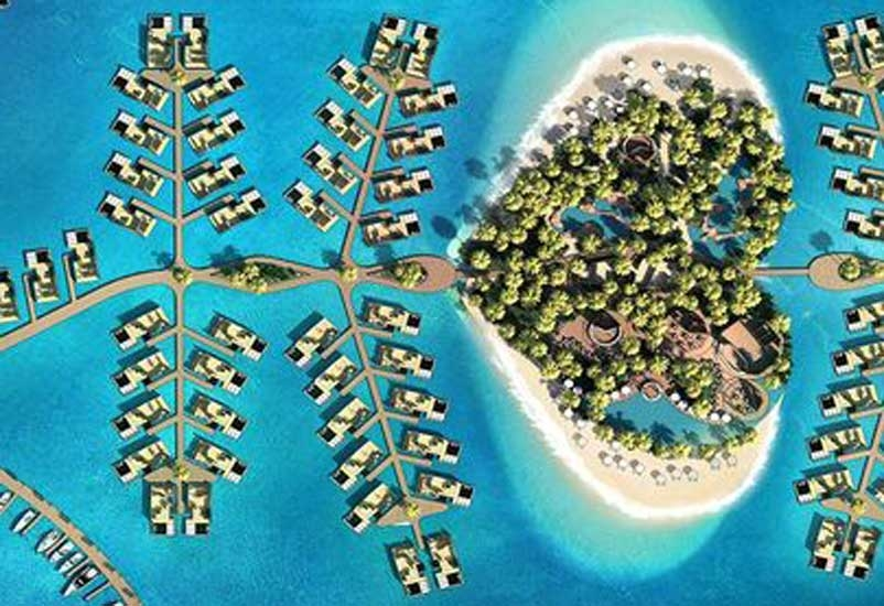 Kleindienst stated that the resort draws inspiration from some of the world's most sought-after honeymoon hotspots, including the Maldives, Bora Bora, and the Caribbean.