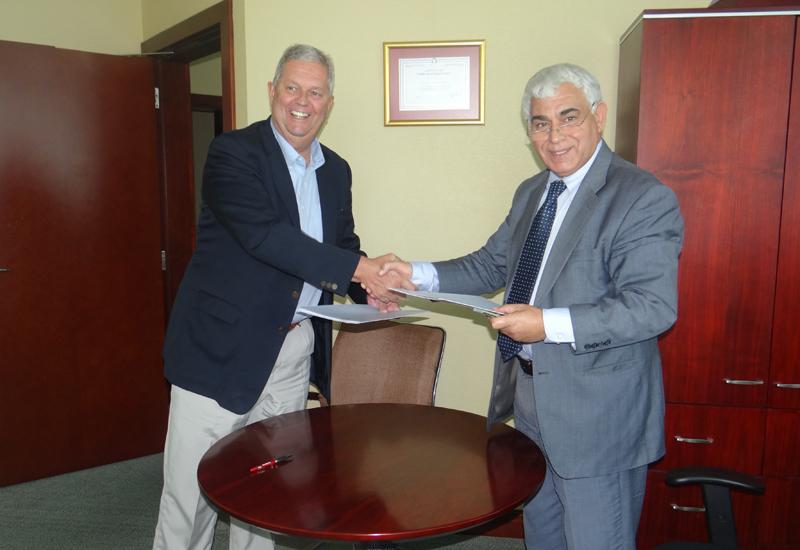Henri Kennedie chairman and CEO Swiss International with Ibrahim Jaffal, managing director, Hamad Suhail Al Khaily Est.