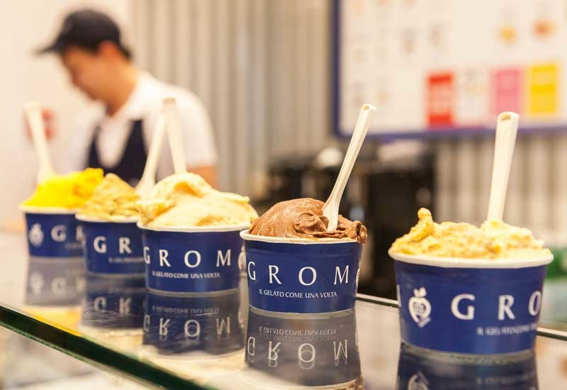 Grom products are made using ingredients sourced from its organic farm, Mura Mura, in Costigliole d'Asti, Italy.