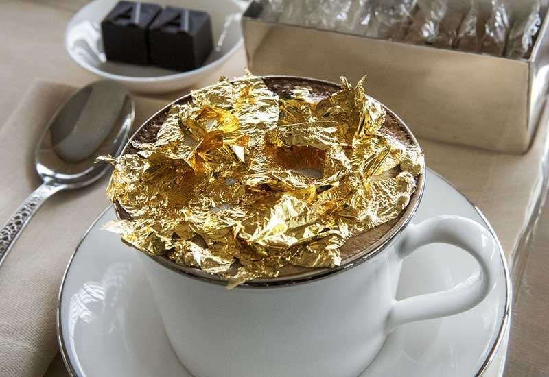 The hotel's gold cappuccino.