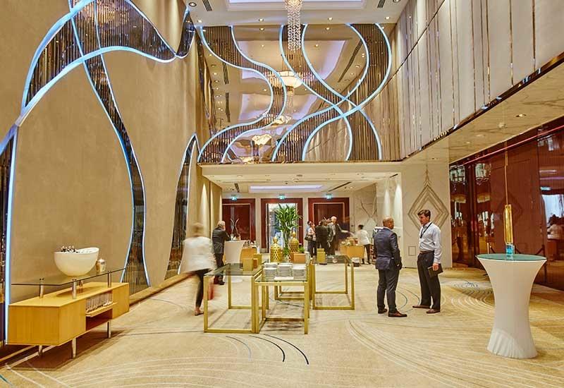 The ballroom lobby post renovation.