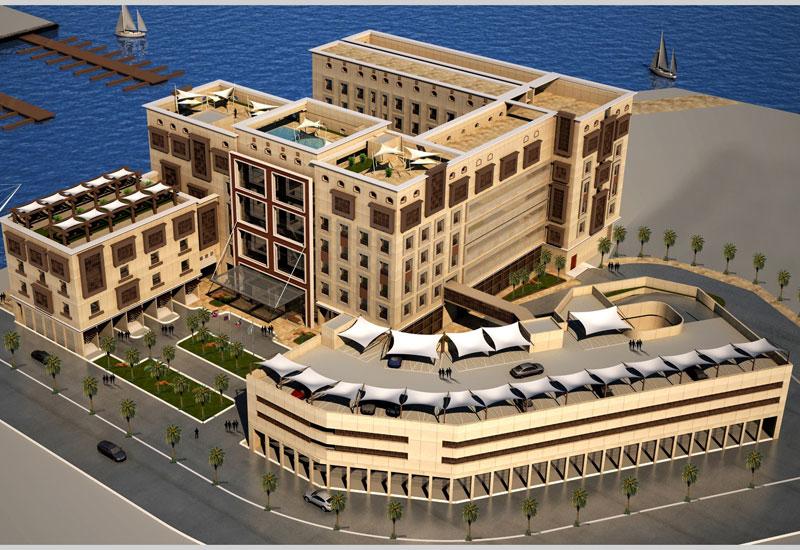 A rendering of Hilton Garden Inn Yanbu