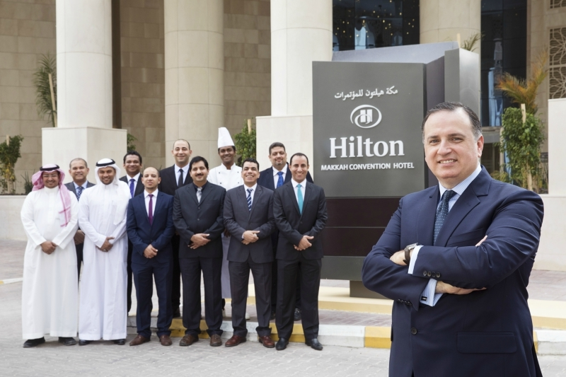 Hilton Makkah Convention Hotel executive team with general manager Mark Allaf.