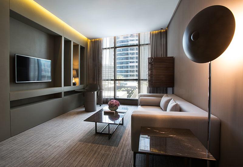 A one-bedroom suite at InterContinental Dubai Marina.