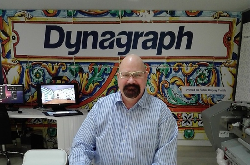 Dynagraph regional sales manager, large format printing, Stephen Jomartz.