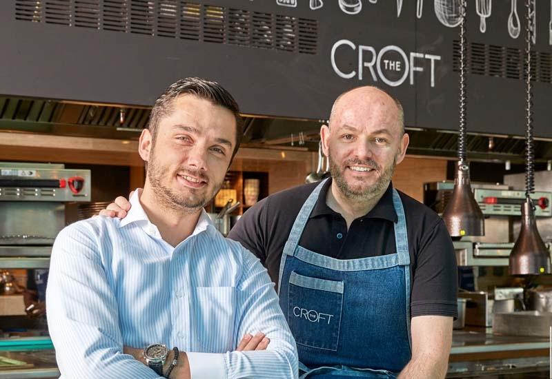 Jane Nedanoski and Darren Velvick at The Croft Dubai.