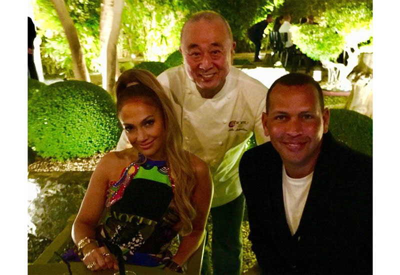 Jennifer Lopez, Nobu Matsuhisa and Alex Rodriguez.
