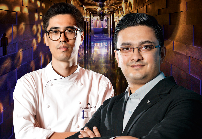 W Doha executive chef Kim Hyung Gyu along with B&F director Arun Narayanan.