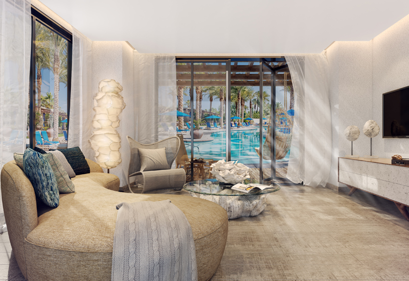 A chalet at the Lava Beach Club.