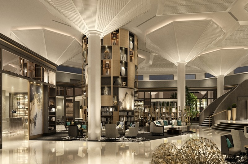 The newly transformed lobby of Le Meridien Dubai Hotel & Conference Centre.