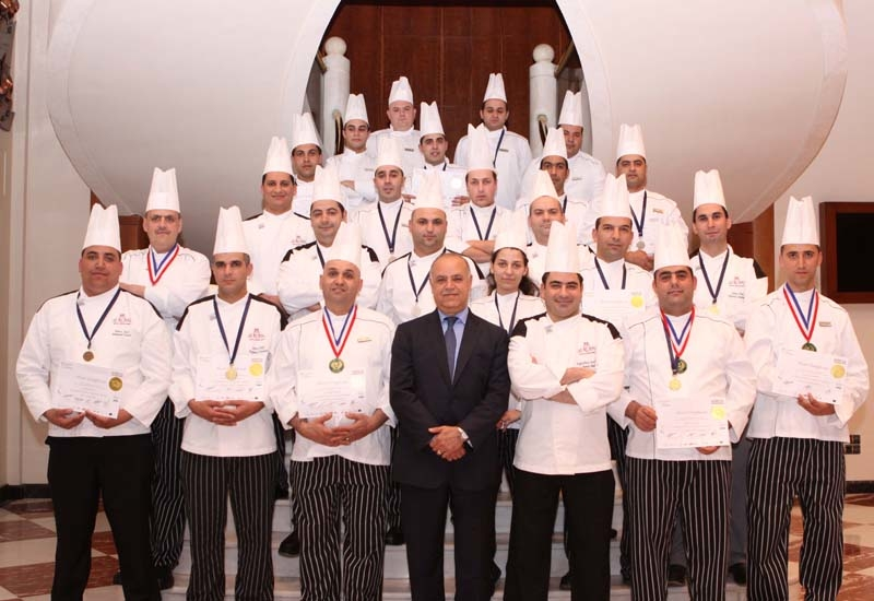 Chefs from Le Royal Beirut