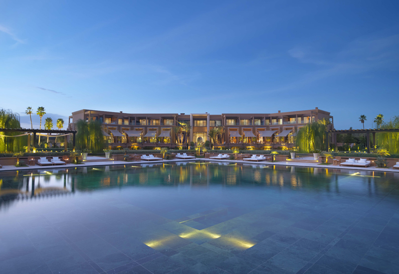 The exterior of the Mandarin Oriental Marrakech, where Ling Ling will be located.