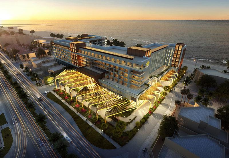 A rendering of the Mandarin Oriental property on Jumeira Beach in Dubai, UAE.