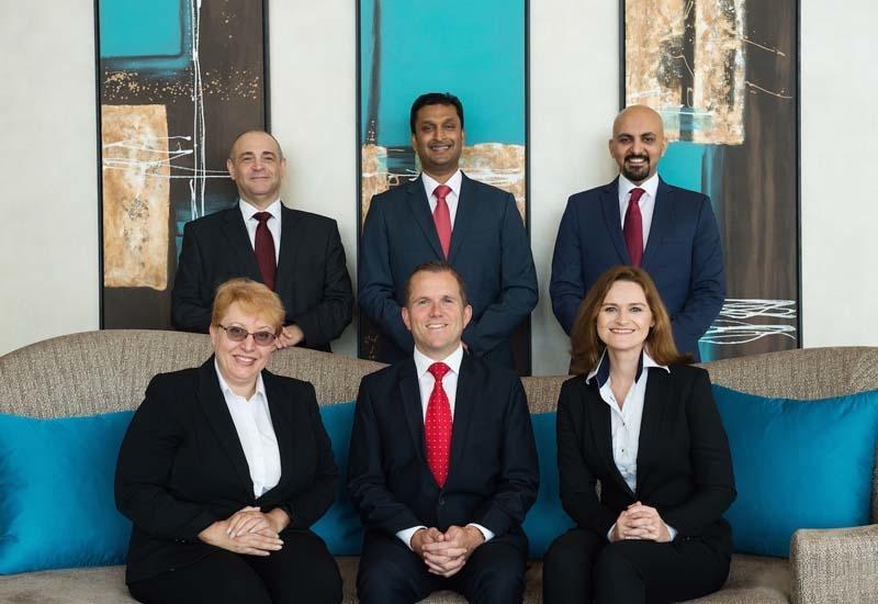 The executive team at Marriott Hotel Al Forsan.