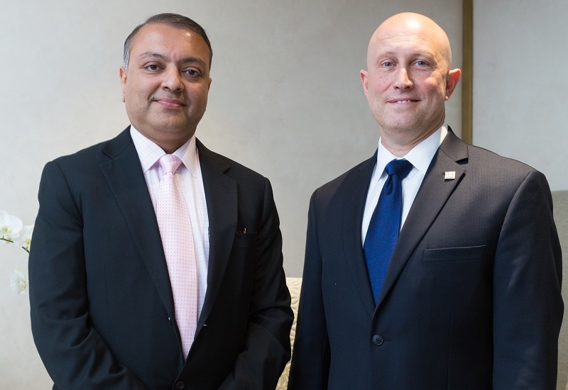 Al Habtoor Group director of operations & development Sundaresh Iyer, and Habtoor Grand Beach Resort & Spa consulting general manager Rick Zeolla.