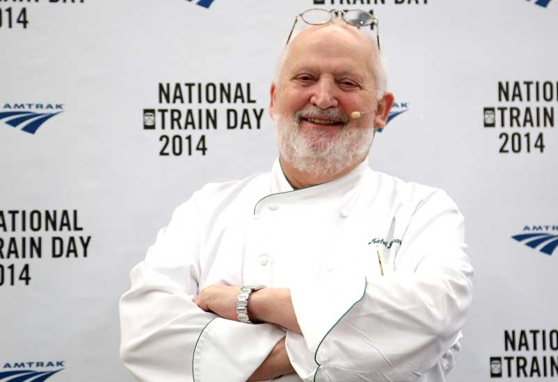 Michel Richard at Amtrak National Train Day 2014 at Penn Station in May 2014, in New York City (Paul Zimmerman/Getty).