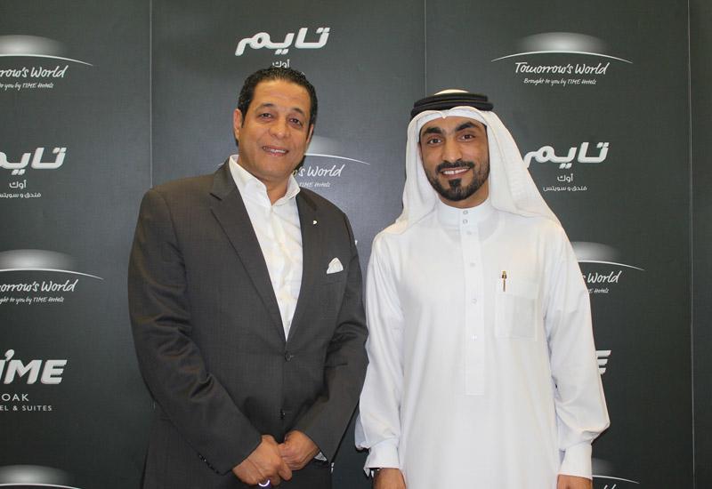 Time Hotels CEO Mohamed Awadalla and EWS business development director Abdulla Al Nuaimi