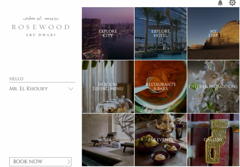 Neorcha's myHotel mobile app for Rosewood Abu Dhabi.