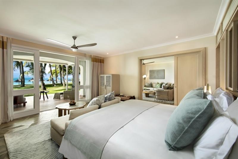 One&Only Le Saint Geran ocean suite bedroom.