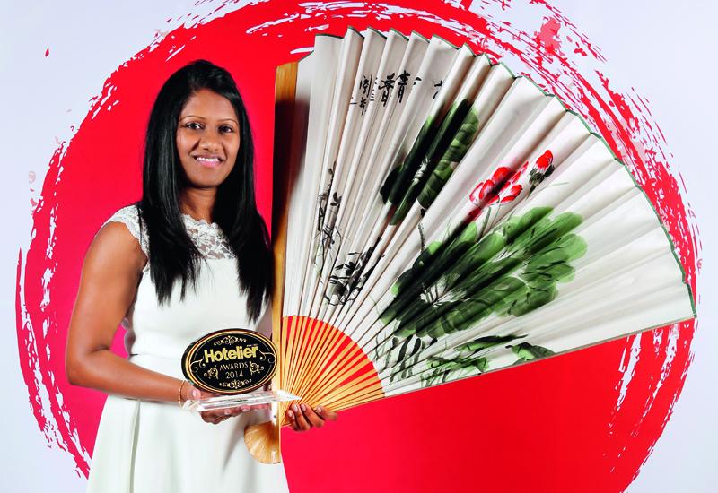 Pamini Hemaprabha at the Hotelier Awards 2014.