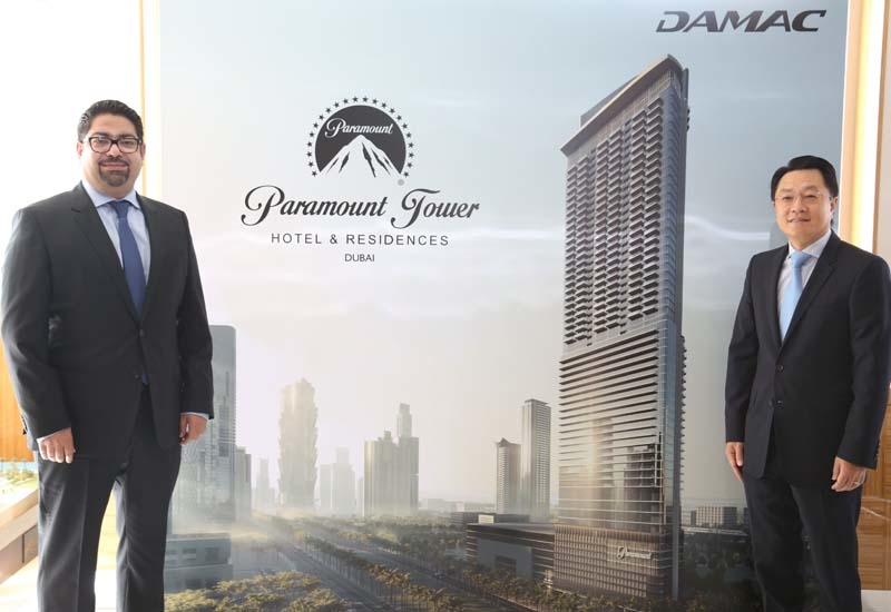 L-R: Mohd Tahaineh, SVP, commercial, Damac; and Yu Tao, president & CEO, CSCEC Middle East