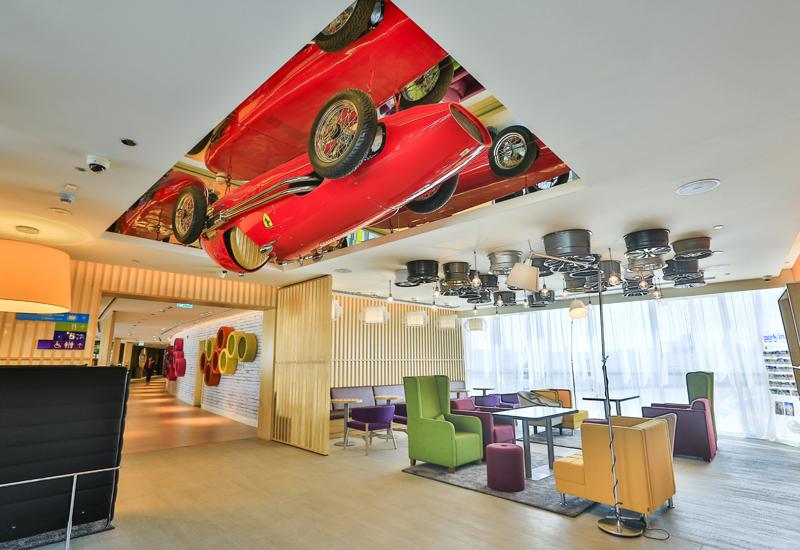 Park Inn by Radisson Dubai Motor City lobby.