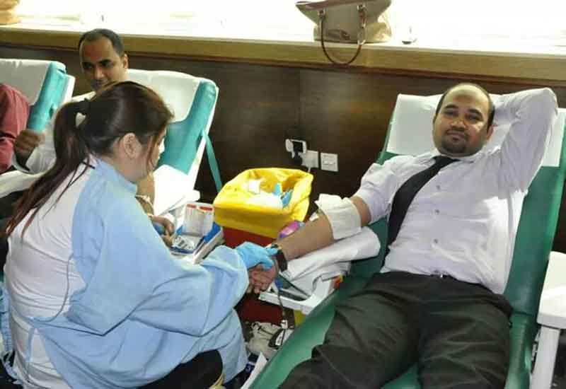 Blood donation drive at Park Regis Kris Kin Hotel Dubai.