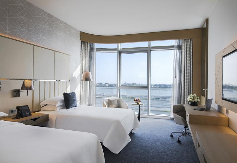 Premium twin seaview room at Pearl Rotana