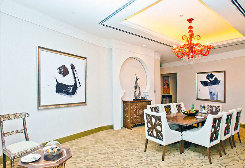 The hotel's focus on art continues in a Panoramic Suite.