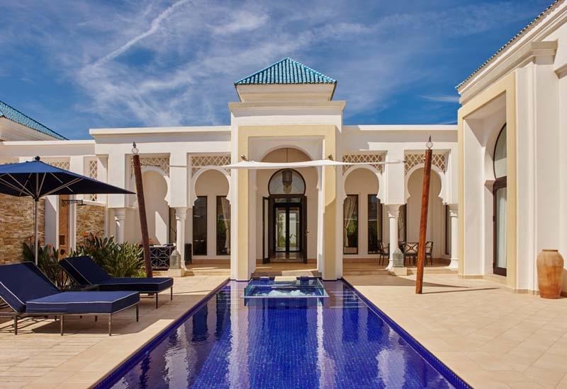 A pool villa at Banyan Tree, Tamouda Bay.