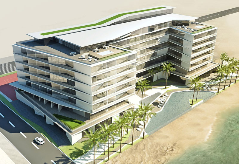 A rendering of the planned R Hotels property on Palm Jumeirah