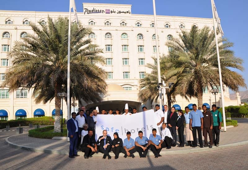 The Radisson Blu Hotel, Muscat receives the Safehotels certification.
