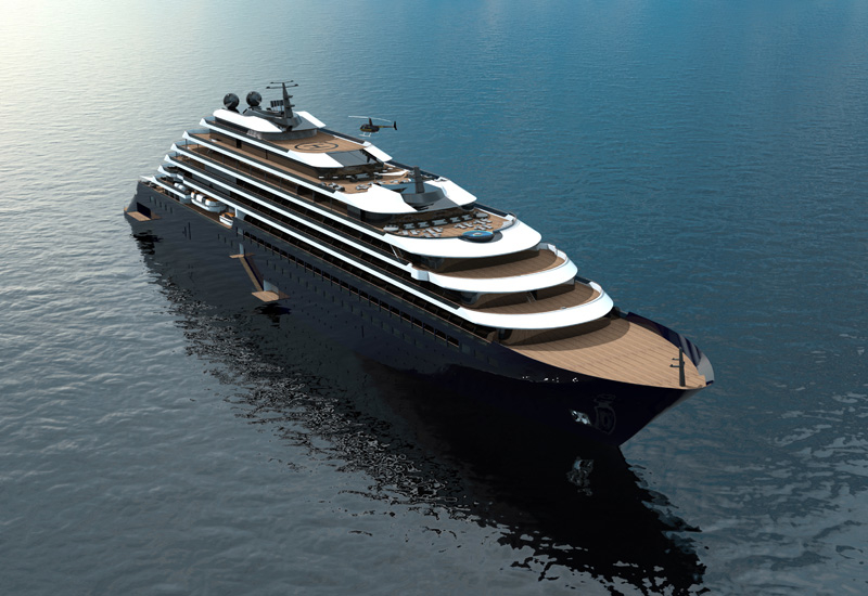 The first of three cruising yachts in this series is scheduled to take to the sea in 2019.