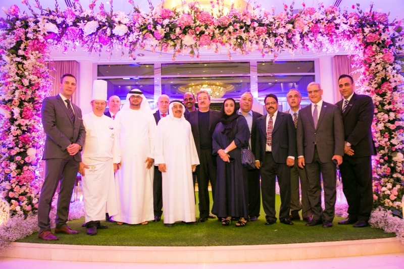 Roda Al Murooj general manager Mohamed Aghoury (second from right) with Roda Hotels & Resorts management during the cocktail reception held in honour of his appointment.