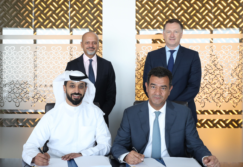 Front Row: Ahmed Bin Sulayem, Executive Chairman, DMCC; Sami Nasser, Chief Operating Officer, Luxury Brands, AccorHotels Middle East; Back Row: Gautam Sashittal, Chief Executive Officer, DMCC; Paul Ashton, Executive Director  Property, DMCC.
