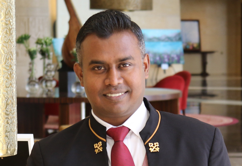 """Sahan Sameera, concierge manager, Raffles Dubai: Sahan Sameera was recently awarded the prestigious """"Les Clefs d'Or"""" membership and received his golden keys in an official ceremony at the hotel. The service provided by him and his team reflects in a very high guest satisfaction score for 2017 and Sameera personally scored a clean 100% in the 2017 Leading Quality Assurance Inspections. The high quality services has generated a large number of recognition for him and his team on social media and guest back."""
