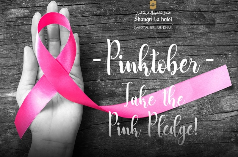 Shangri-La Abu Dhabi's hosts 'Pinktober' in support of Pink Caravan and Breast Cancer Awareness Month.