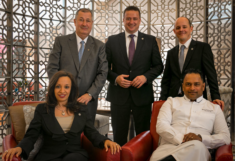 From L-R standing: Thomas Van Opstal, Marcus Ptok and director of marketing Jeremie Lannoy. Sitting (from L-R) Mai Nassar and Neeraj Pyaneeandee.