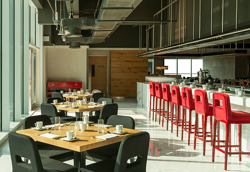 Feast is the hotel's all-day dining restaurant.