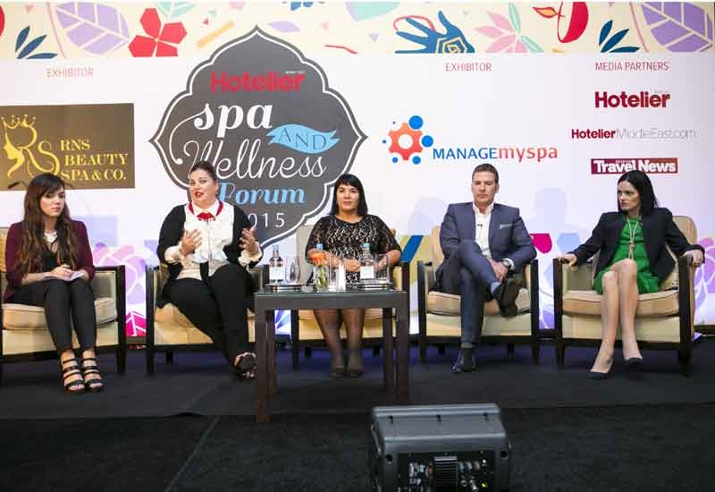 Panellists onstage at the Hotelier Spa and Wellness Forum