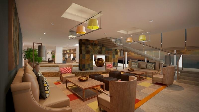 Staybridge Suites Jeddah Alandalus Mall lobby.