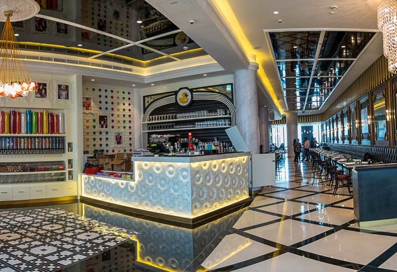 The first overseas foray for the brand is housed in a 7,265 sq ft brasserie and retail store.