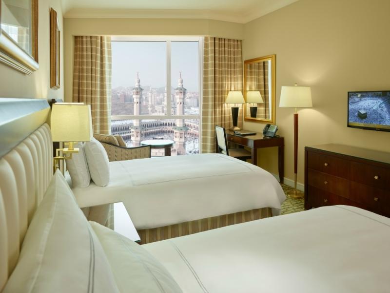 Swissotel Al Maqam Makkah's twin premier guestroom.